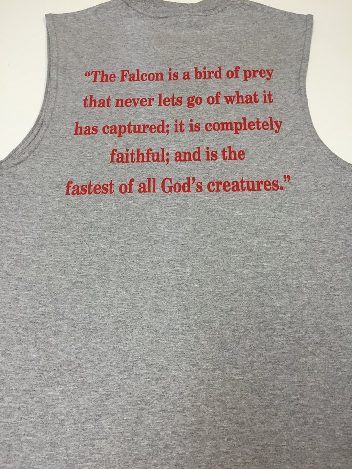 North Catholic Falcon Bird of Prey Muscle T-Shirt