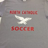 Northeast Catholic Soccer throwback Grey Tee