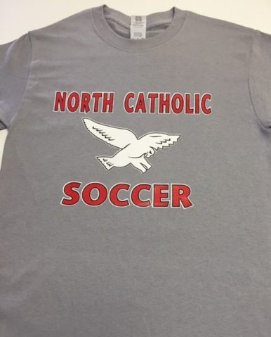 North catholic Soccer throwback Grey Tee
