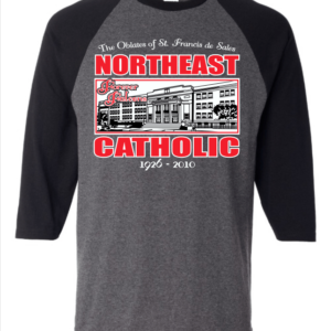 Northeast Catholic Baseball Tee