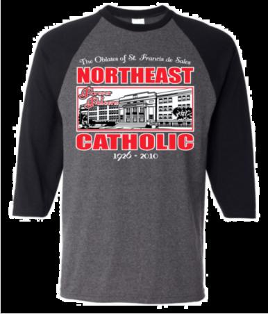 Northeast Catholic Baseball Tee