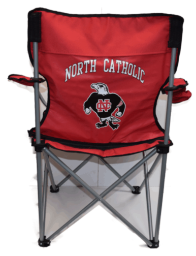 North Catholic Falcons red chair