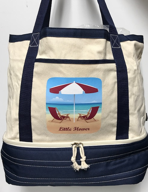 Little Flower Beach bag Cooler