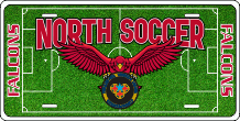 North Catholic Soccer License Plate